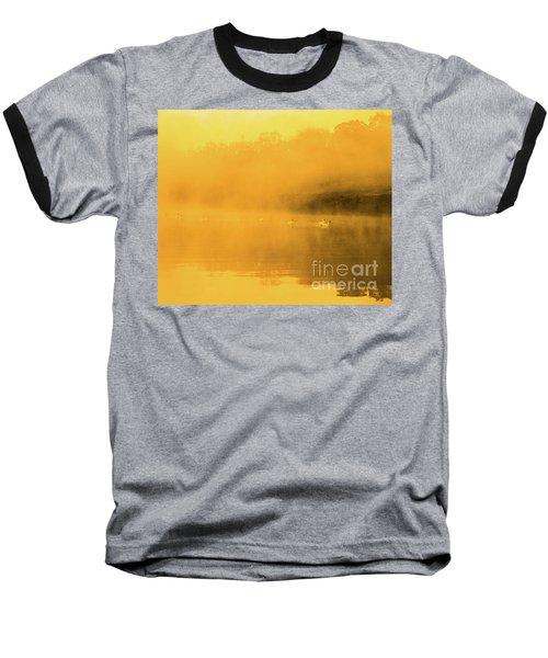 Baseball T-Shirt featuring the photograph Misty Gold by Tatsuya Atarashi