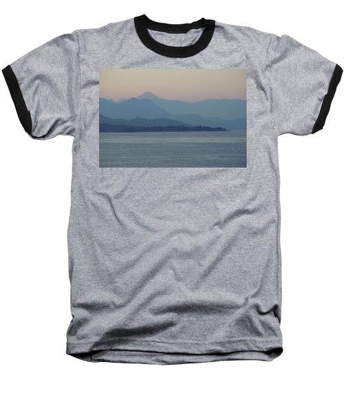 Misty Hills On The Strait Baseball T-Shirt