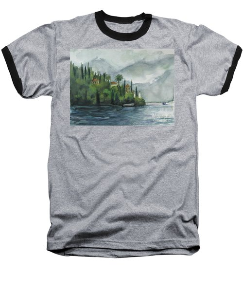 Misty Island Baseball T-Shirt by Laurie Morgan