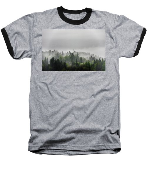 Misty Lions Gate View Baseball T-Shirt