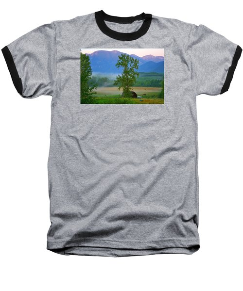 Misty Montana Evening Baseball T-Shirt