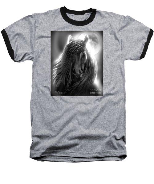 Misty Moonlight Baseball T-Shirt
