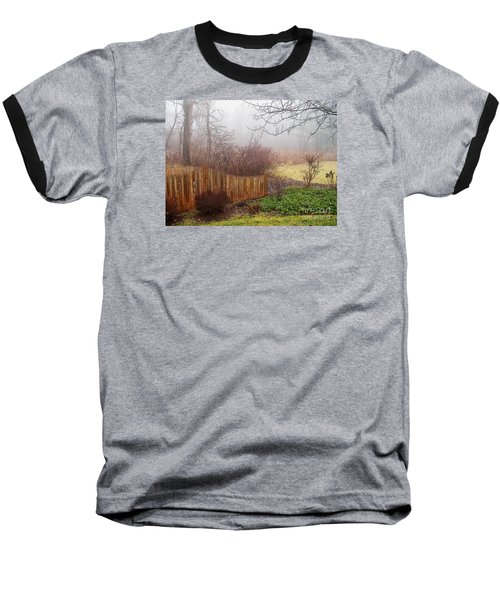 Misty Morn Baseball T-Shirt by Betsy Zimmerli
