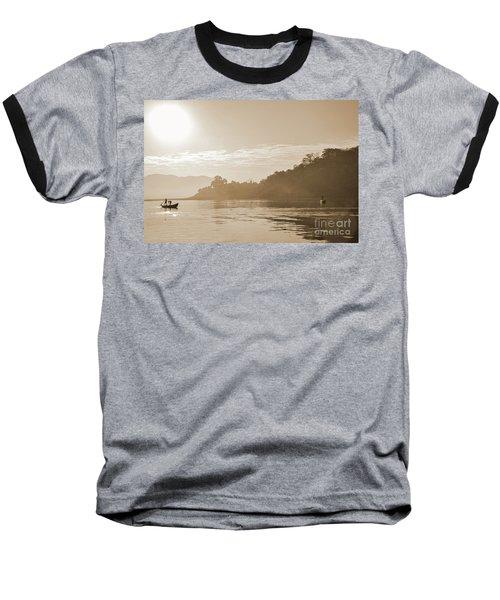 Misty Morning 2 Baseball T-Shirt