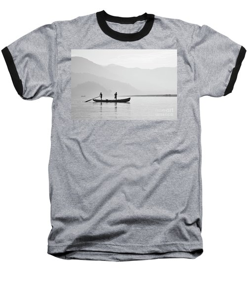 Misty Morning 3 Baseball T-Shirt