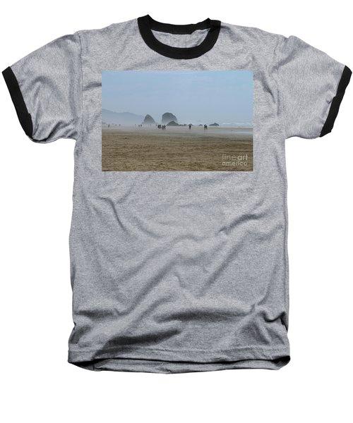 Misty Morning At Cannon Beach Baseball T-Shirt