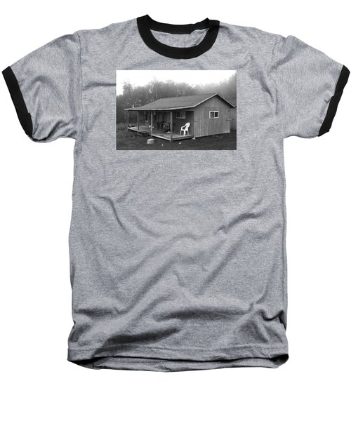 Misty Morning At The Cabin Baseball T-Shirt