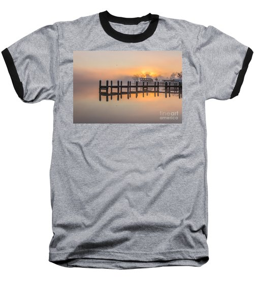 Misty Morning Baseball T-Shirt by Brian Wright