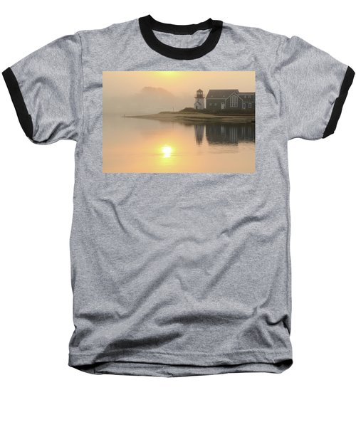 Baseball T-Shirt featuring the photograph Misty Morning Hyannis Harbor Lighthouse by Roupen  Baker