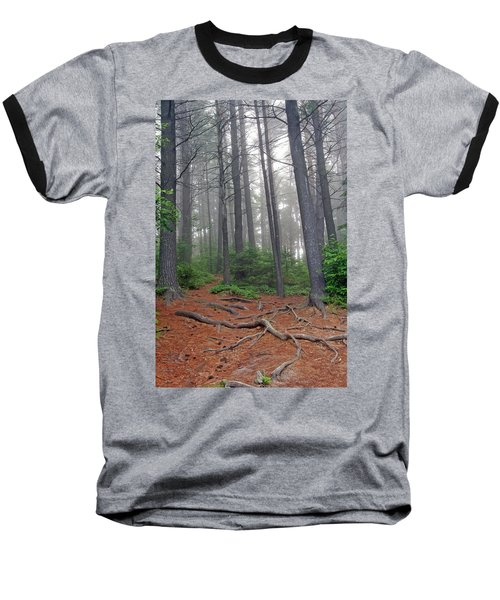 Misty Morning In An Algonquin Forest Baseball T-Shirt