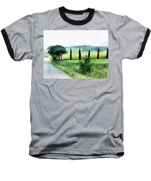 Misty Morning In Umbria Baseball T-Shirt