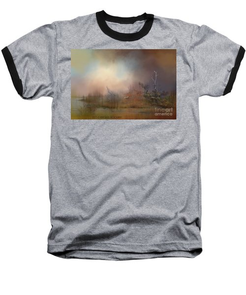 Misty Morning Baseball T-Shirt by Kathy Russell