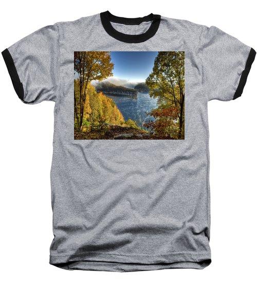 Misty Morning Baseball T-Shirt by Mark Allen