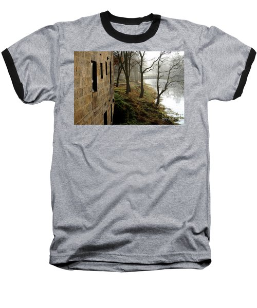 Misty Morning On The Illinois Michigan Canal  Baseball T-Shirt
