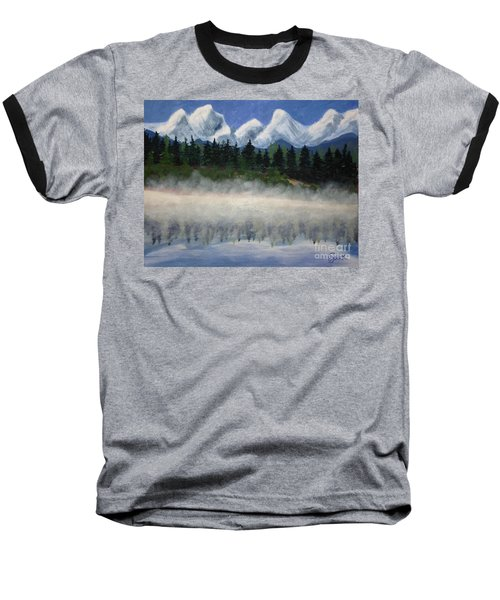 Misty Morning On The Mountain Baseball T-Shirt