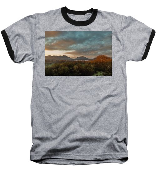 Misty Morning Over The San Diego River Baseball T-Shirt