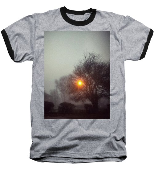Baseball T-Shirt featuring the photograph Misty Morning by Persephone Artworks
