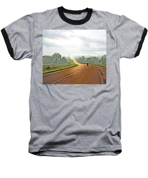 Misty Morning Ride Arkansas Baseball T-Shirt