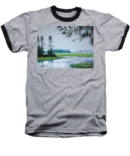 Misty Morning Baseball T-Shirt by Stanton Allaben