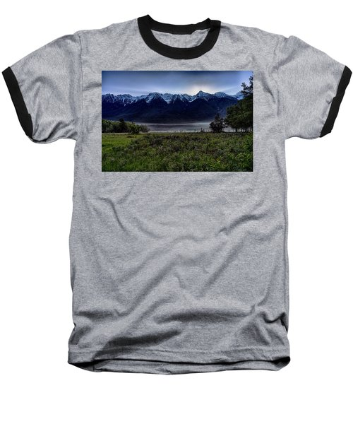 Baseball T-Shirt featuring the photograph Misty Mountain Morning Meadow  by Darcy Michaelchuk