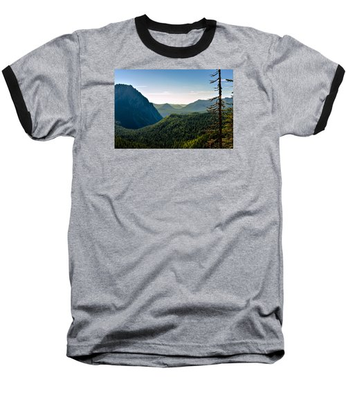 Baseball T-Shirt featuring the photograph Misty Mountains by Anthony Baatz