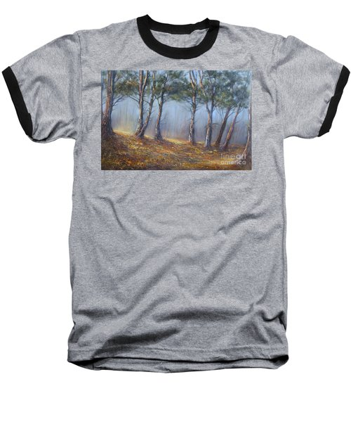 Misty Pines Baseball T-Shirt by Valerie Travers