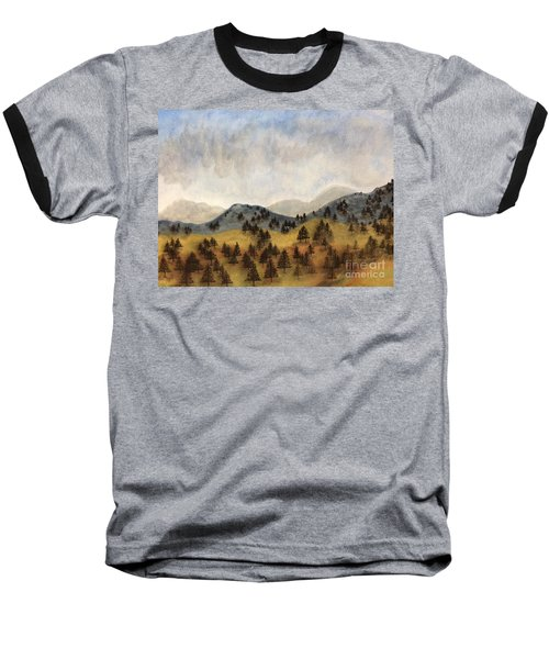 Misty Rain On The Mountain Baseball T-Shirt