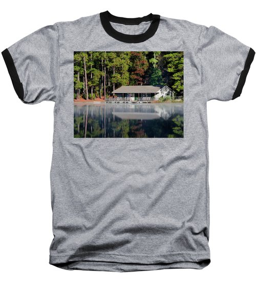 Baseball T-Shirt featuring the photograph Misty Reflection At Durant by George Randy Bass