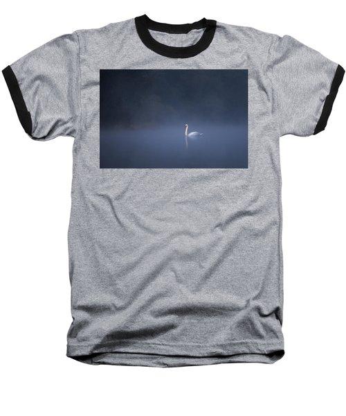 Misty River Swan Baseball T-Shirt