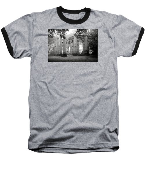 Misty Ruins Baseball T-Shirt by Scott Hansen
