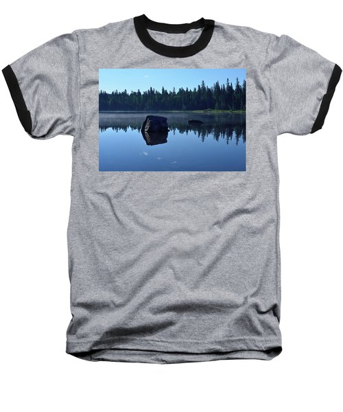 Misty Summer Morning Baseball T-Shirt