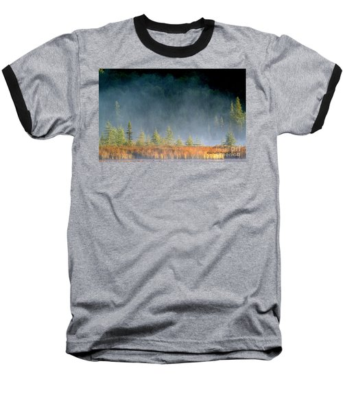 Misty Sunrise At Costello Creek Baseball T-Shirt