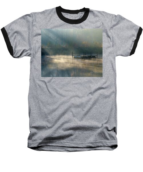 Baseball T-Shirt featuring the photograph Misty Sunrise by George Randy Bass