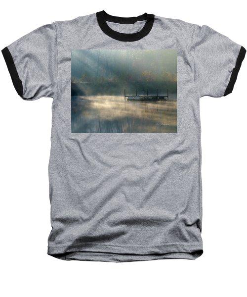 Misty Sunrise Baseball T-Shirt by George Randy Bass