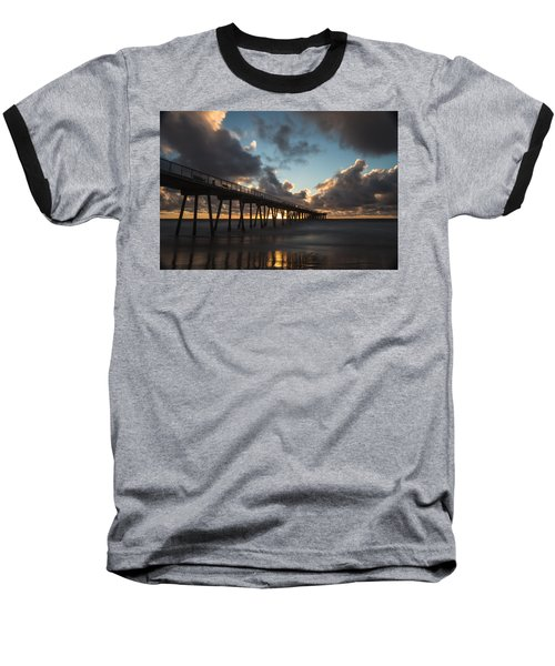 Misty Sunset Baseball T-Shirt