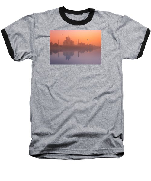 Misty Sunset Baseball T-Shirt