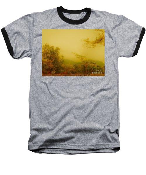 Misty Yellow Hue- El Valle De Anton Baseball T-Shirt