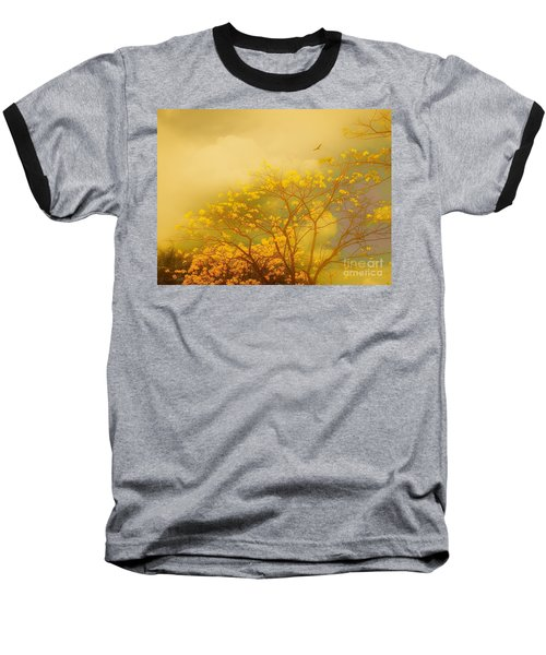 Misty Yellow Hue -poui Baseball T-Shirt