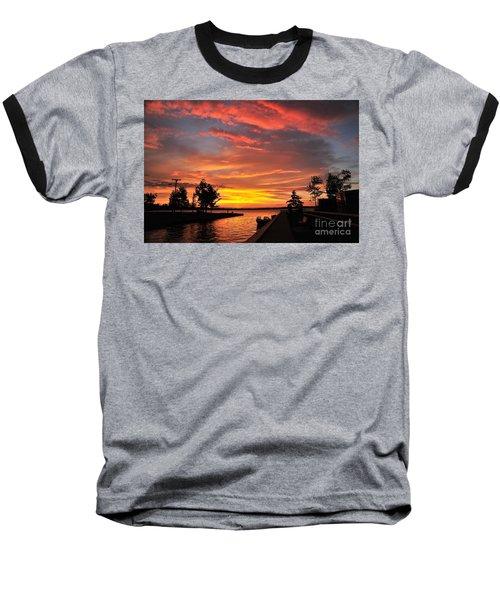 Mitchell State Park Cadillac Michigan Baseball T-Shirt by Terri Gostola