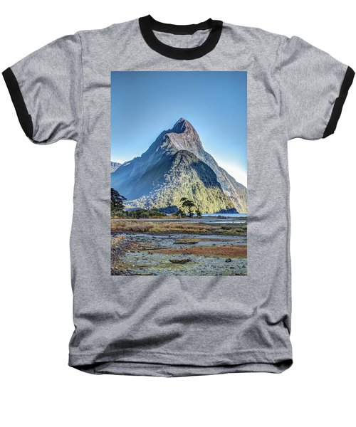 Baseball T-Shirt featuring the photograph Mitre Peak At Low Tide by Gary Eason
