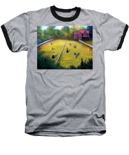 Baseball T-Shirt featuring the painting Mixed Doubles by Gail Kirtz