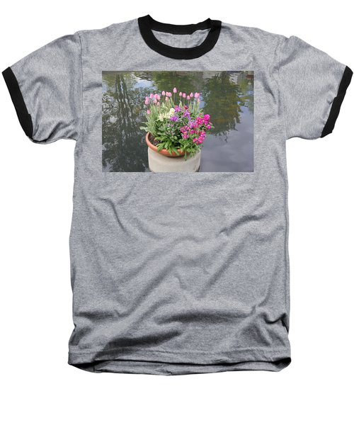 Mixed Flower Planter Baseball T-Shirt