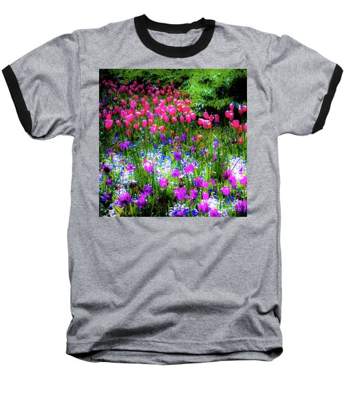 Mixed Flowers And Tulips Baseball T-Shirt
