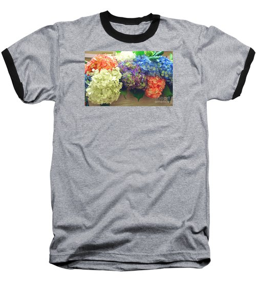 Baseball T-Shirt featuring the photograph Mixed Hydrangea by Merton Allen
