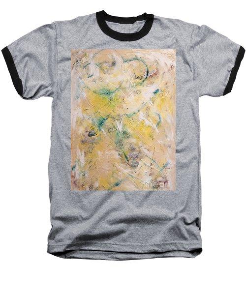 Mixed-media Free Fall Baseball T-Shirt