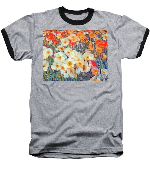 Mixed Poppies Baseball T-Shirt