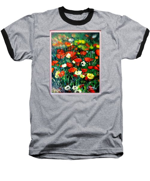 Baseball T-Shirt featuring the painting Mixed Puppies  by Laila Awad Jamaleldin