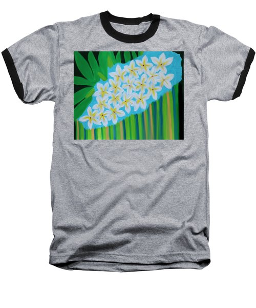 Mixed Up Plumaria Baseball T-Shirt