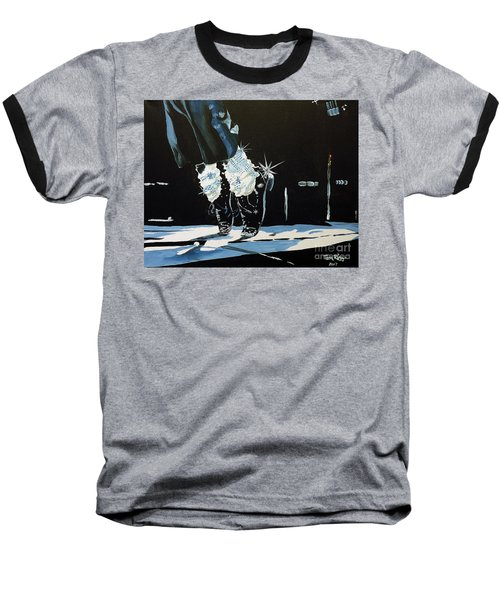 Baseball T-Shirt featuring the painting Mj On His Toes by Tom Riggs