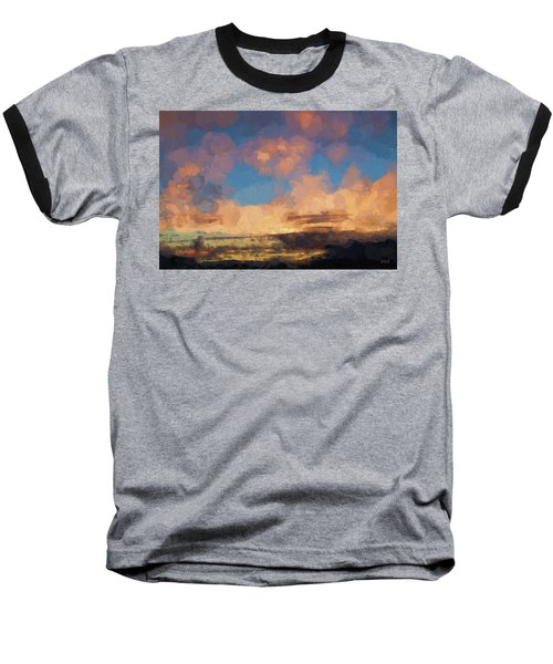 Moab Sunrise Abstract Painterly Baseball T-Shirt